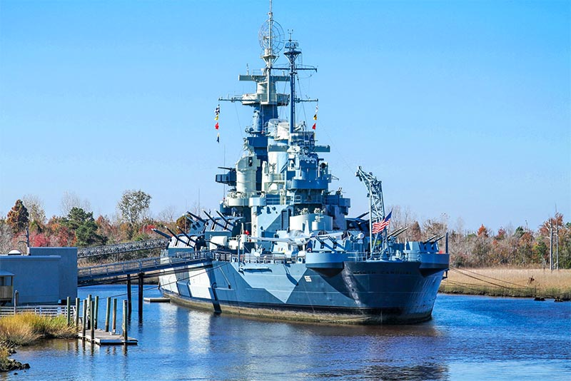 The USS North Carolina Battleship in Wilmington, North Carolina