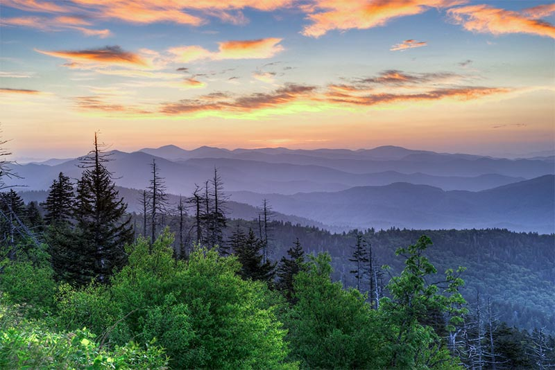 The Smoky Mountains near Knoxville, Tennessee