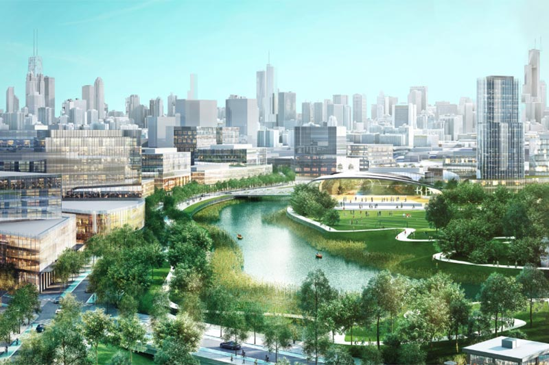 rendering of lincoln yards development