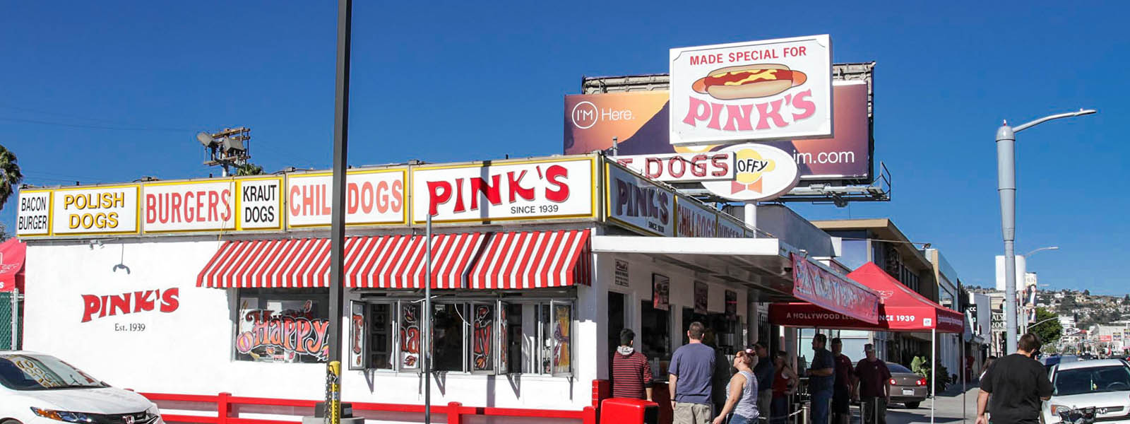 Famous Pink's Hot Dogs Restaurant in Los Angeles